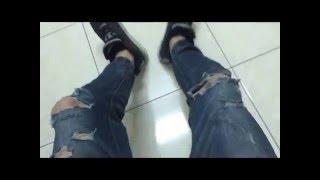 DIY Ripped Jeans【破壞牛仔褲】DIY刷破方法教學