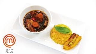 Brown Stew Chicken With Pumpkin Rice  MasterChef UK  MasterChef World