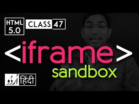 Iframe Tag With Sandbox Attribute - Html 5 Tutorial In Hindi/urdu - Class - 47