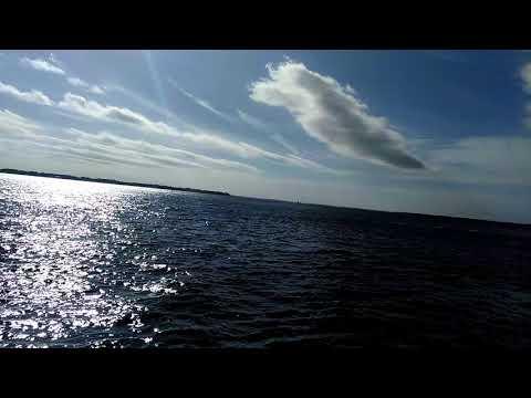 Beautiful the sun is walking on water