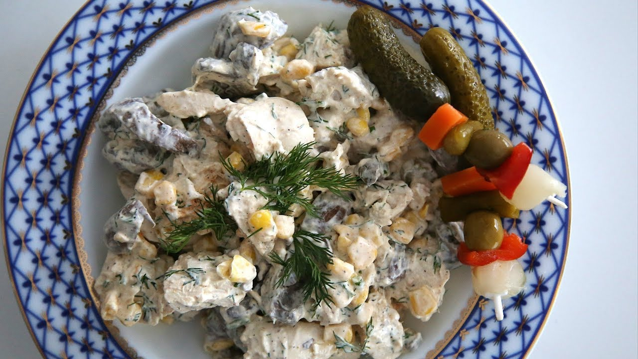 Olivier vegetarian salad with mushrooms: a recipe with photos 56