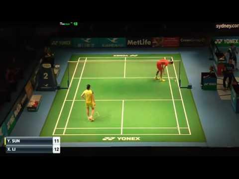 2016澳洲公開賽SF WS Sun Yu孫瑜(中) vs LI Xuerui李雪芮(中)