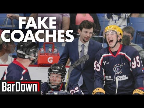 COACH CRASHING AN NHL CHARITY HOCKEY GAME