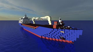 Minecraft Cargo Ship- NBP Liner [Full interior][+Download]