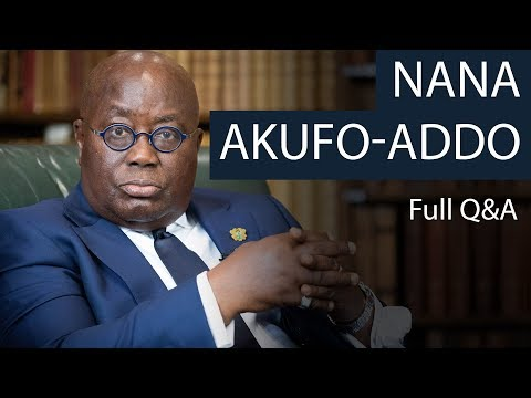 President Nana Akufo-Addo | Full Q\u0026A | Oxford Union
