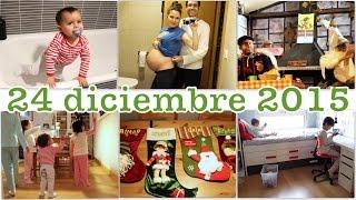VLOGMAS 24 diciembre / NOCHEBUENA + Olentzero + Calcetines Papá Noel / sem 31 EMBARAZO GEMELAR