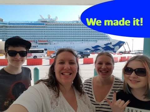 Driving to the Port • The Ship! • Boarding Issues • Royal Princess Cruise Vlog [ep3]