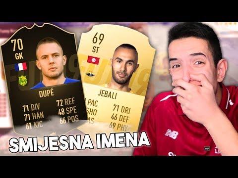 IGRACI SA SMIJESNIM IMENIMA! FIFA 19