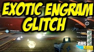"★ Destiny - ""EXOTIC ENGRAM GLITCH"" ""THREE OF COINS LOOT CHEESE SPOT"" ""EXOTIC ENGRAM FARMING SPOT"""