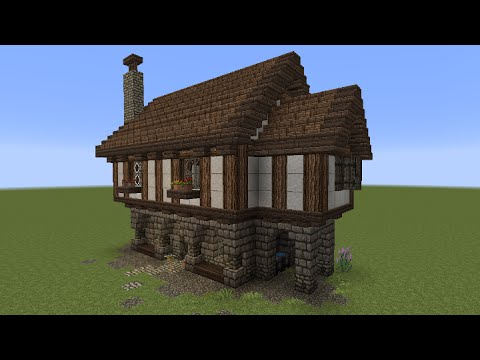 Minecraft tutorial kleines haus mittelalterlich youtube for Classic house tutorial