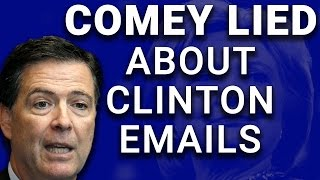 Uh-Oh: FBI Director James Comey Caught Lying About Hillary's Emails