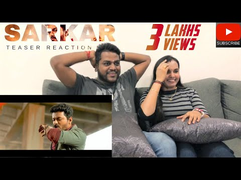 Sarkar Teaser Reaction | Malaysian Indian Couple | Thalabathy Vijay | Filmy React
