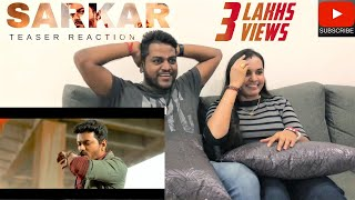 Sarkar Teaser Reaction | Malaysian Indian Couple | Thalapathy Vijay | Filmy React