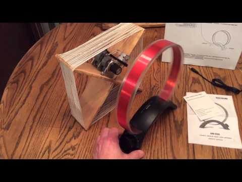 Tecsun AM Radio Broadcast Band Loop Antenna Demo