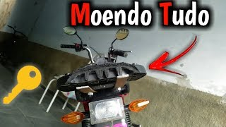 CHAVEANDO A TRASEIRA DA MOBILETE - Grau De 3° Marcha [Victor Da Moby] Moto Vlog