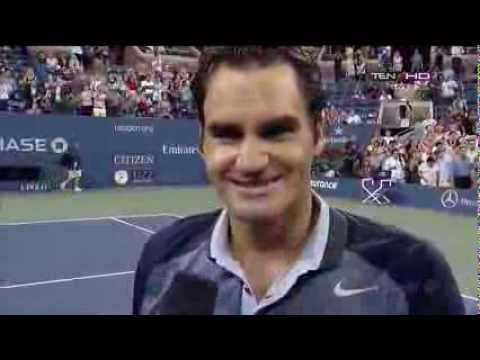 Interview Roger Federer vs Adrian Mannarino Highlights Round 3 US OPEN 2013