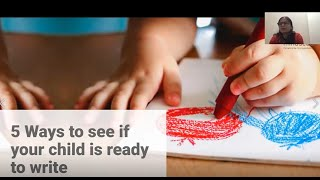 5 Ways To See If Your Child Is Ready To Write |  Mindseed Preschool