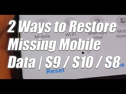 2 Ways To Restore Missing Mobile Data In Quick Settings | Galaxy S8, S9, S10, S10+, Note 8, Note 9