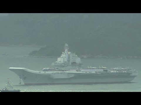 Chinese aircraft carrier Liaoning arrives in Hong Kong