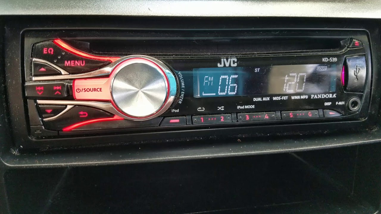 how to set the clock jvc kd s39 radio [ 1280 x 720 Pixel ]