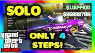 solo Gta 5 Online Money Glitch!! (No DELUXO) *WORKING*