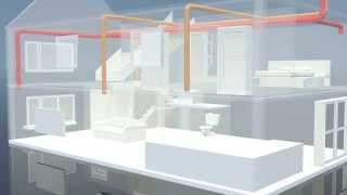 видео Вентиляция коттеджа. Приточно-вытяжная система вентиляции коттеджа. Стоимость системы вентиляции коттеджа. Приточная вентиляция коттеджа. Вытяжная вентиляция коттеджа. Естественная вентиляция коттеджа.