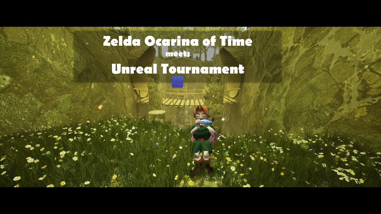 lost woods zelda meets unreal tournament map preview youtube