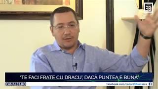 """Victor Ponta: """"Te faci frate cu dracu', dacă puntea e bună"""" - interviu Cristina Țopescu"""