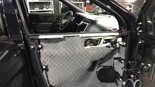 Ford Explorer, вибро- шумоизоляция четырёх дверей авто, в четыре слоя, материалами Комфортмат