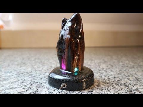 DIY Color Change Led, Wood, Epoxy Resin, Carbon Desk Lamp Part 2