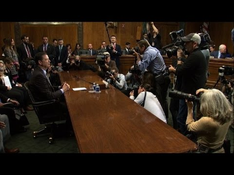 FBI Director Comey arrives for Senate hearing