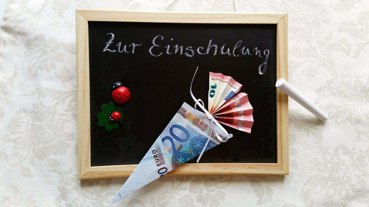 schult te aus geld falten einschulungsgeschenk origami geschenke youtube. Black Bedroom Furniture Sets. Home Design Ideas