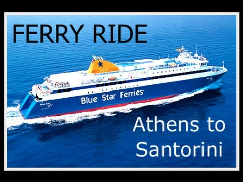 Ferry From Athens To Santorini Blue Star Ferry Ride