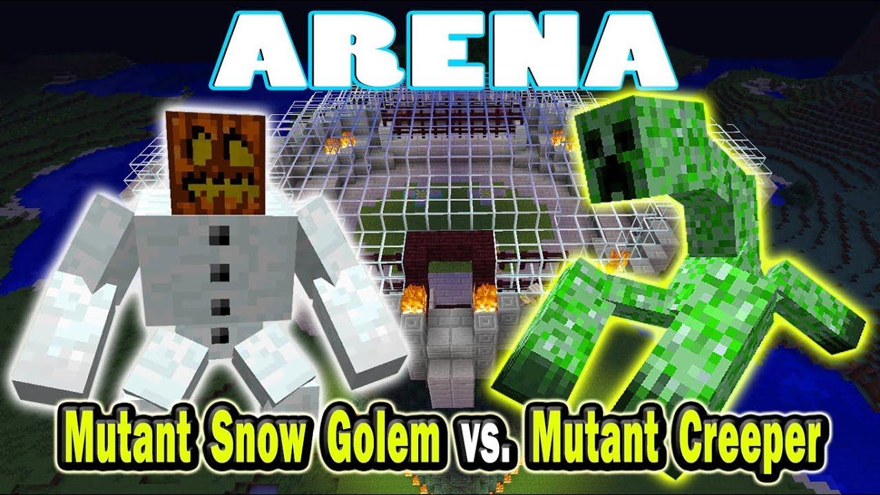 minecraft mutant enderman vs mutant snow golem vs hydra