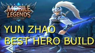 Mobile Legends - YUN ZHAO INCREDIBLE HERO BUILD
