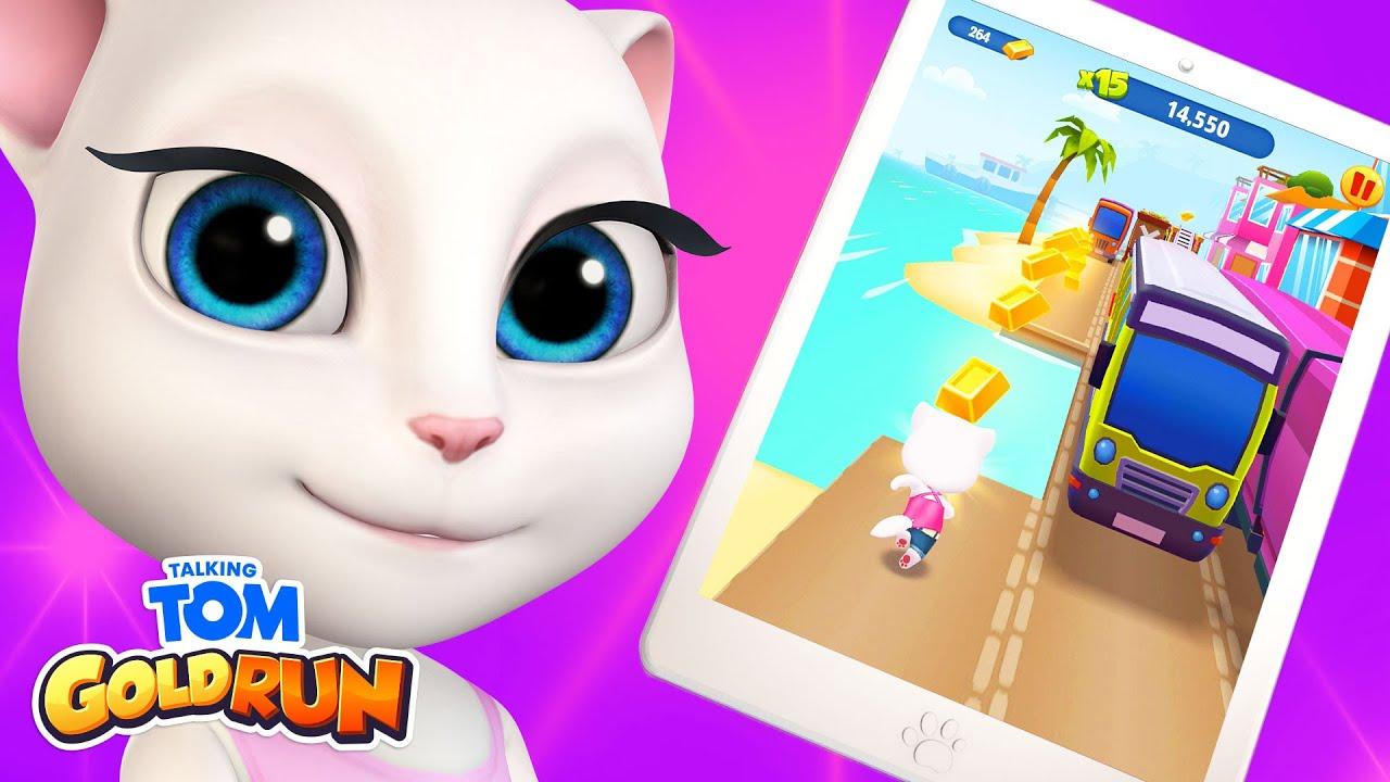 f92dc11dfc6b3 Talking Angela Plays Talking Tom Gold Run (Gameplay) - YouTube