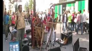 Aztec Pan Pipe Street Musicians