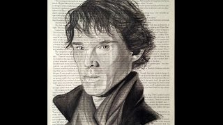 Sherlock Holmes (Benedict Cumberbatch) Speed Drawing with Sherlock Theme