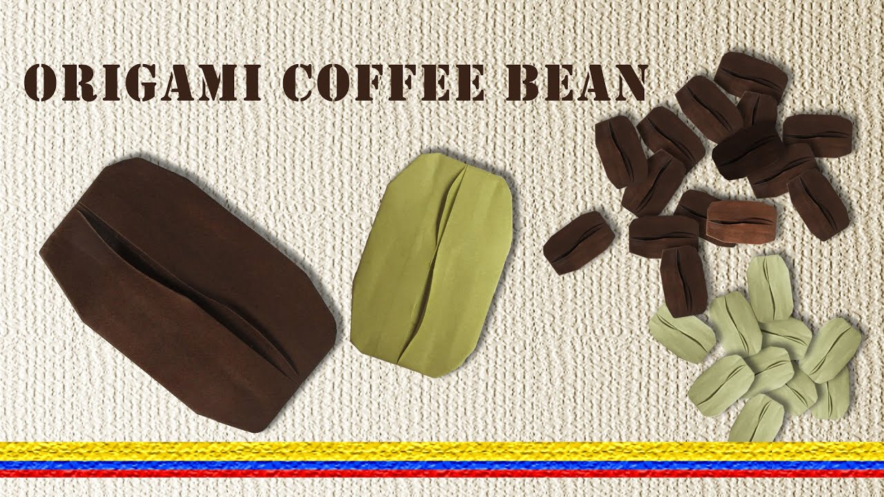 How to make a paper coffee bean youtube for How to draw a coffee bean