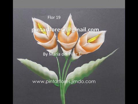 Flowers One stroke. Blumen malen. Festés virágok. Живопись цветы. Pittura Fiori.Flor 19