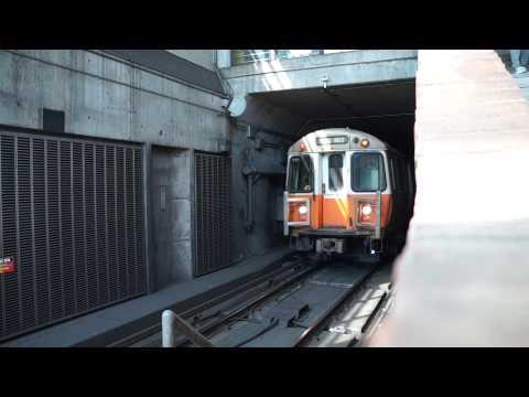 Orange Line Outbound towards Forest Hills -- MBTA