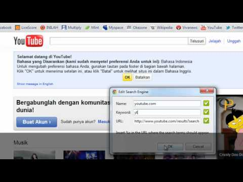 Adding Youtube as a search engine in Google Chrome - YouTube