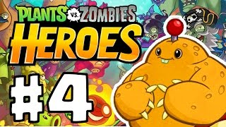 Plants vs. Zombie Heroes Part 4 | UNLOCKING ZOMBIE HQ!!| Brand New PVZ Game IOS/ANDROID!