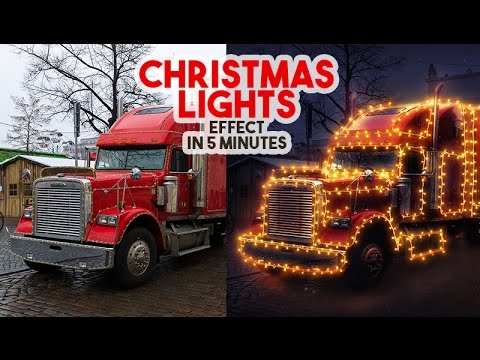 Christmas Lights Effect in Photoshop tutorial