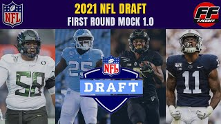NFL Mock Draft Full First Round With Trades (1.0) | Patriots And Broncos TRADE UP