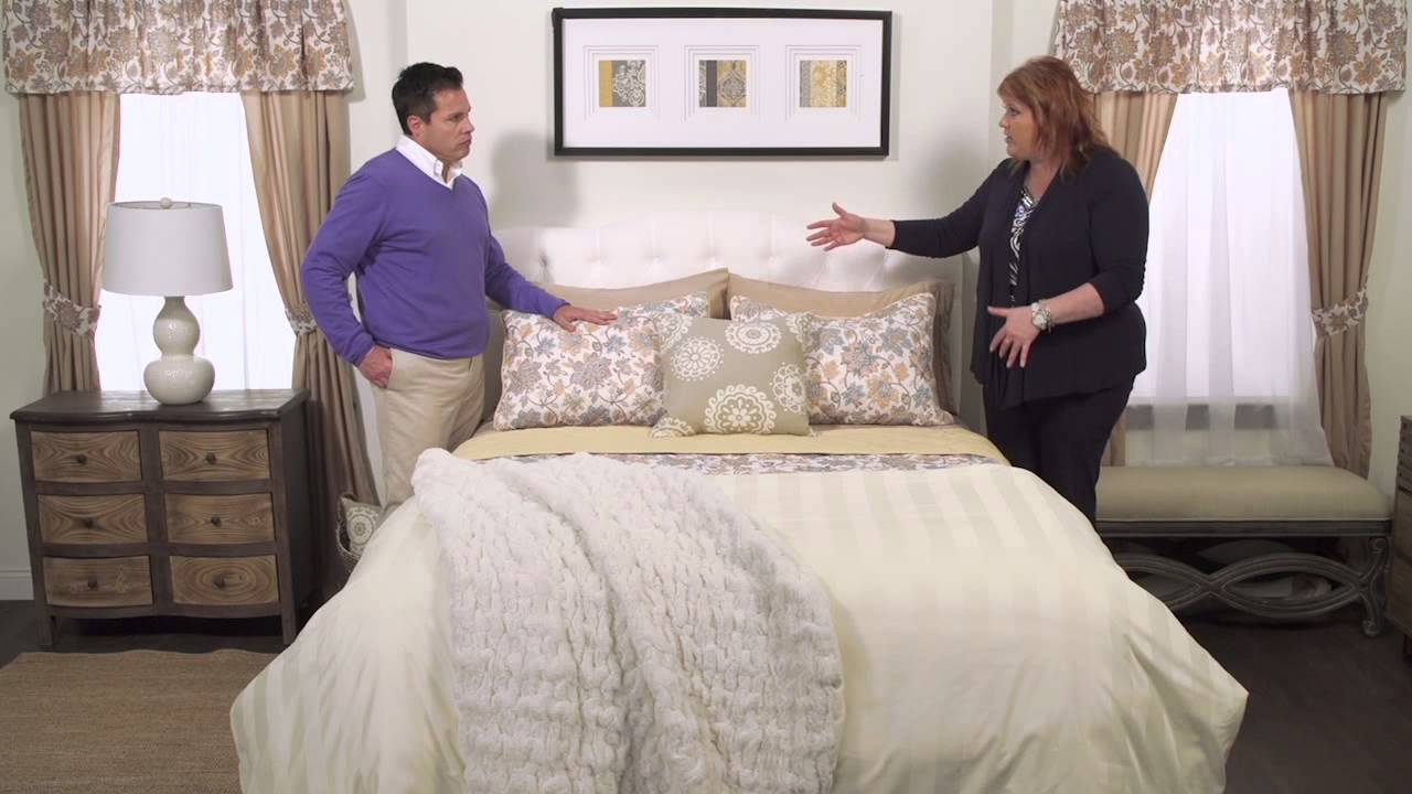 how to layer a bed with laura duffek evine youtube. Black Bedroom Furniture Sets. Home Design Ideas