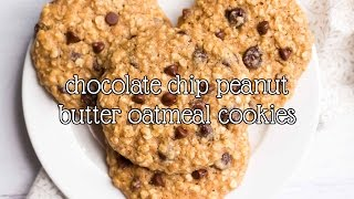 Healthy Chocolate Chip Peanut Butter Oatmeal Cookies | Amy's Healthy Baking