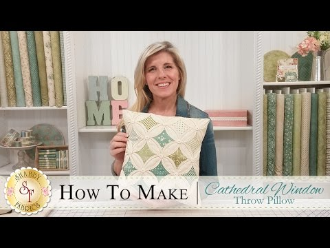 How to Make a Cathedral Window Pillow | a Shabby Fabrics Quilting Tutorial