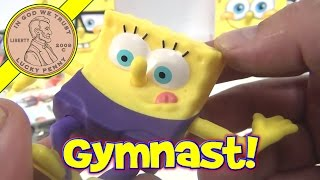 Spongebob Squarepants (#11 Gymnast) 2012 Mcdonald's Happy Meal Olympic Sports - Video 12 Of 18