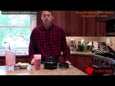 Raspberry Peach Banana Orange Juice Smoothie Recipe